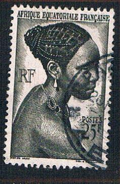 French Equatorial Africa 184 Used Bacongo Woman (BP838)