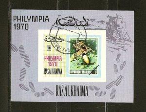 Ras al Khaima Philympia 1970 Souvenir Sheet CTO (1)