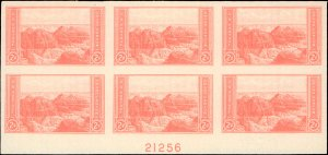 United States #757, Complete Set, Plate Block of 6,, 1935, Mint No Gum As Issued