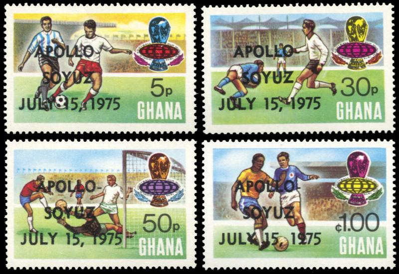 Ghana 549-552, MNH, Apollo Soyuz Space Test Project