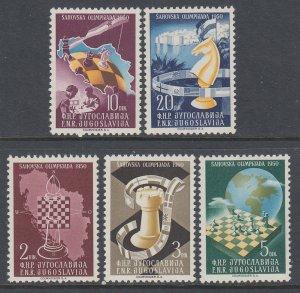Yugoslavia 300-304 Chess MNH VF