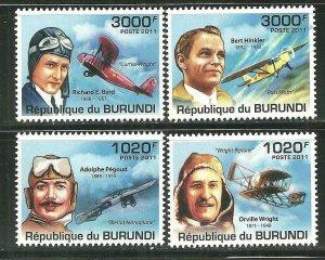 Burundi MNH 996-9 Aviators/Planes 2011