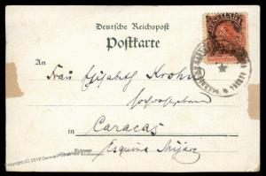 Germany ca1902 SMS Vineta Venezuela Cover Resellada 10c Stamp 88231
