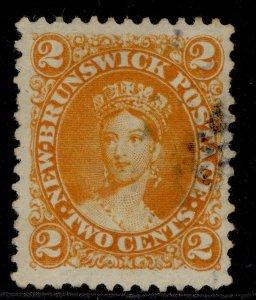 CANADA - New Brunswick QV SG10, 2c orange, USED. Cat £29.