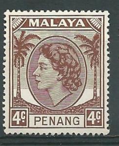 Malaya-Penang # 31 QE II - 4c   (1) Unused VLH
