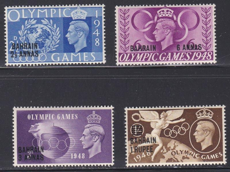 Bahrain # 64-67, Olympic Games, VLH, 1/3 Cat.