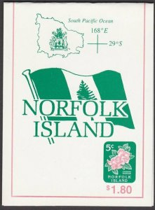 NORFOLK IS 1995 $1.80 Booklet of local mail 5c stamps......................A701