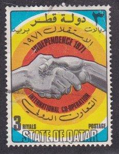 Qatar # 278, International Cooperation, Used, 1/3 Cat.