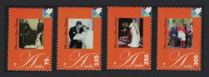 Aruba 70th Birth Anniversary of Queen Beatrix 4v SG#409-412