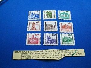 GERMANY (DDR)  -  SCOTT # 2832-2840      MNH