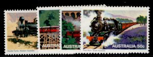 AUSTRALIA QEII SG715-718, 1979 steam railways set, NH MINT.