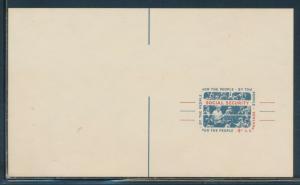 #UX51 VAR. 4c 1964 SOCIAL SECURITY MISCUT ERROR POSTAL CARD XF+ RARE BU8498
