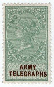 (I.B) QV Telegraphs : Army Telegraphs 2/6d