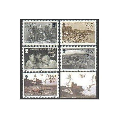 Isle of Man 440-444,MNH.Michel 452-456. Manx Photographers,1991.Birds.