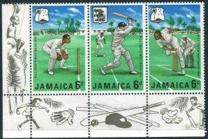 Jamaica 266-268a strip,MNH.Michel 268-170. Marylebone Cricket Club,1968.