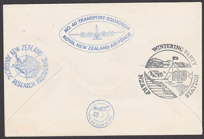NEW ZEALAND ANTARCTIC 1978 RNZAF signed flight cover ex Scott Base.........27812