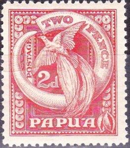 PAPUA 1932 KGV 2d Red SG133 MH