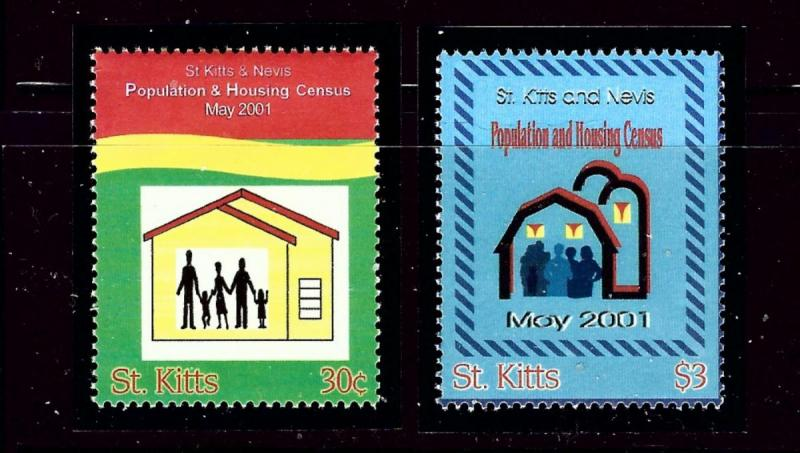 St Kitts 494-95 MNH 2001 Census