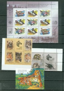 RUSSIA NATURE-ANIMALS LOT of 4 BLKS-SOUV. SHEETS...$17.00