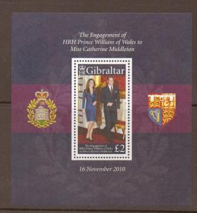GIBRALTAR SGMS1380 2011 ROYAL ENGAGEMENT  MNH