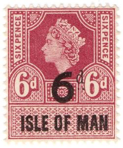 (I.B) Elizabeth II Revenue : Isle of Man 6d