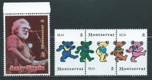 Montserrat 914-15 Jerry Garcia Gratefull Dead set MNH
