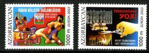 AZERBAIJAN 745-6 MNH SCV $7.00 BIN $4.00