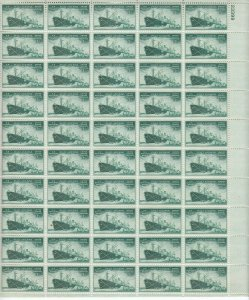 Stamp US Sc 0939 Sheet 1945 Merchant Marines Achievements WWII Liberty Ship MNH
