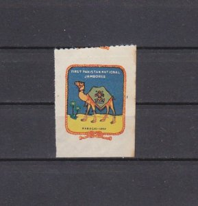 Pakistan, 1960 Cinderella issue. National Scout Jamboree label. ^