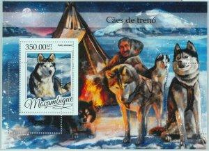 A1336 - MOZAMBIQUE, ERROR, MISPERF, Souvenir sheet: 2016, Sled Dogs
