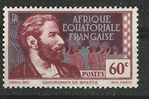 French Equatorial Africa # 50  DeBrassa 0.60fr  (1)    Unused
