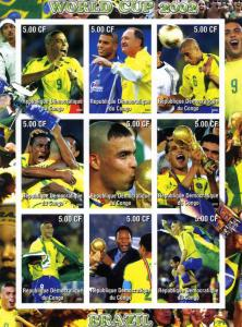 Football BRAZIL 2002 Sheet Imperforated Mint (NH)