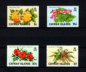 CAYMAN IS - 1980 - WILD FLOWERS - LANTANA - HIBISCUS ++ 4 X MINT - MNH SET!