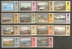 1980   FALKLAND ISLAND DEPENDENCIES  -  SG.  74A - 88A - DEFINITIVES  -  MNH