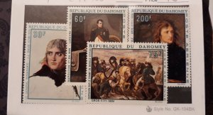 Dahomey 1969 Napoleon Bonaparte, Scott  # 97-100, VF MNH** (GLM)