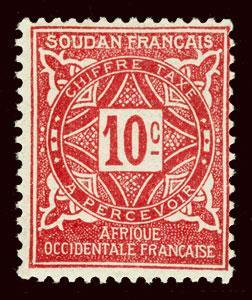 FRENCH SUDAN Scott #J12 1931 postage due unused OG HR