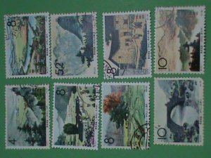 CHINA -STAMPS- 1965- s73-SC# 834-41  JINGANGSHAN MOUNTAIN-REVOLUTION PLACE-STAMP