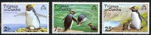 Tristan Da Cunha Sc# 191,193-194 MNH 1974 Rockhopper Penguins