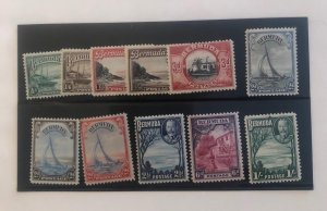 Red Stock Book Full Of Old Stamps Several Countries & Nice Set Of Bermuda