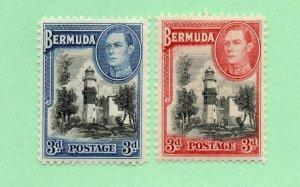 Bermuda - SG# 114 MH + 114a MVLH     -       Lot 0421507
