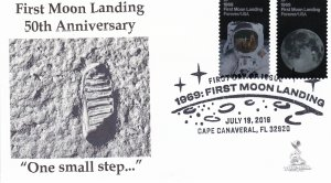 First Moon Landing 50th Anniversary FDC
