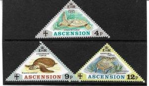 1973    ASCENSION ISLANDS  -  SG. 171 / 173  -  TURTLES   -  UMM