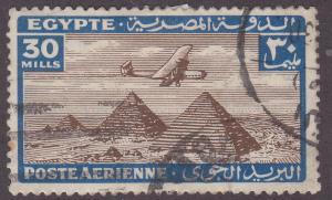 Egypt C37 Airplane Over Giza Pyramids 1941