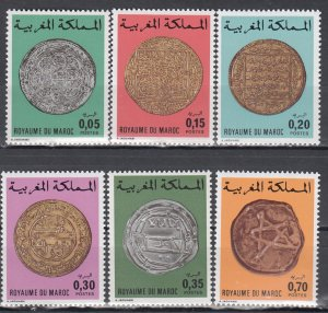 Morocco, Sc 216-219,C16-C17, MNH, 1976, Coins