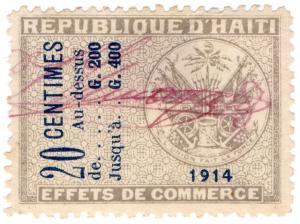 (I.B) Haiti Revenue : Commercial Duty 20c