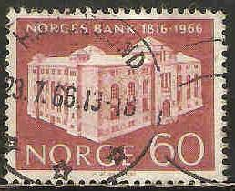 Norway Used Sc 493 - Central Bank 150 Years