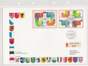 Switzerland Large Prestige 1991 700 Years Confederation FDC Stamps Cover Rf26277