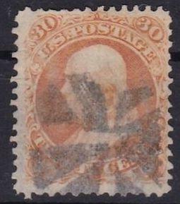 US Scott 71 (1861) Used with nicely centered franklin orange color VF CV $220
