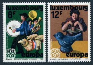 Luxembourg 657-658,MNH.Michel 1031-1032. EUROPE CEPT-1981.Folklore.Sheep,Whistle