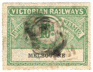 (I.B) Australia - Victoria Railways : Parcels Stamp 10d (Melbourne)